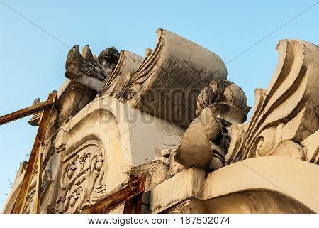 Facade in the Kraton close to Taman Sari in Yogyakarta, Indonesia