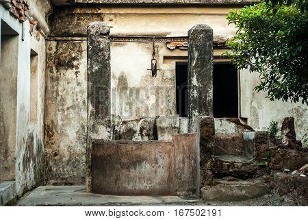 Well in the Kraton close to Taman Sari in Yogyakarta, Indonesia