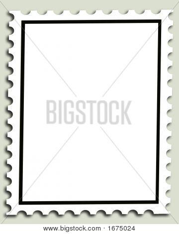 Blank Postage Stamp Background Or Frame