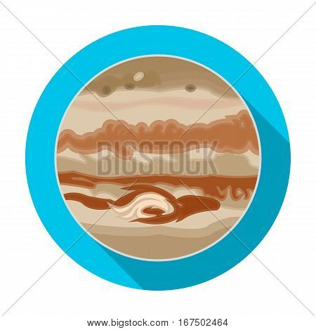 Jupiter icon in flat design isolated on white background. Planets symbol stock vector illustration.