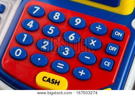 Numeric keypad detail, Children's toy - Treasury