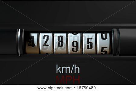 Car Odometer High