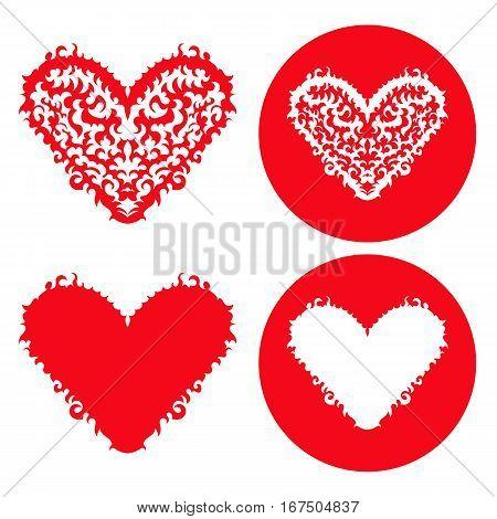 Vector hearts set. Hand drawn. Vector illustration