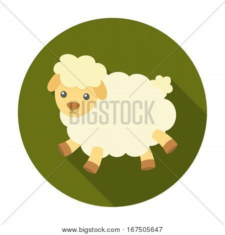 Toy sheep icon in flat design isolated on white background. Sleep and rest symbol stock vector illustration.
