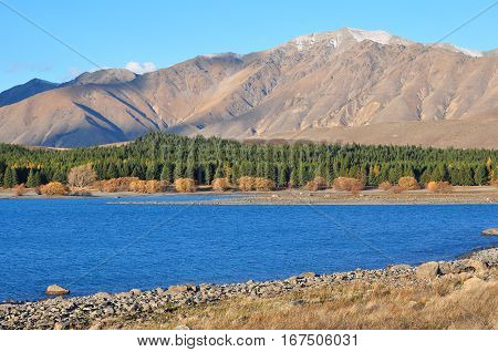 Lake Tekapo New Zealand Beautiful Landscape .
