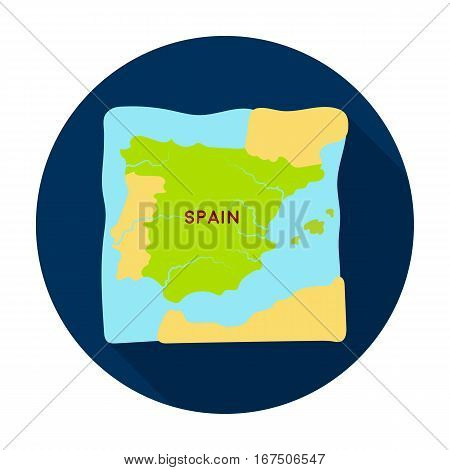 Territory of Spain icon in flat design isolated on white background. Spain country symbol stock vector illustration.