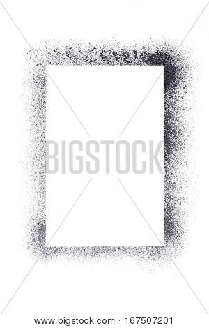 Vertical blank stencil frame isolated on the white background - raster illustration
