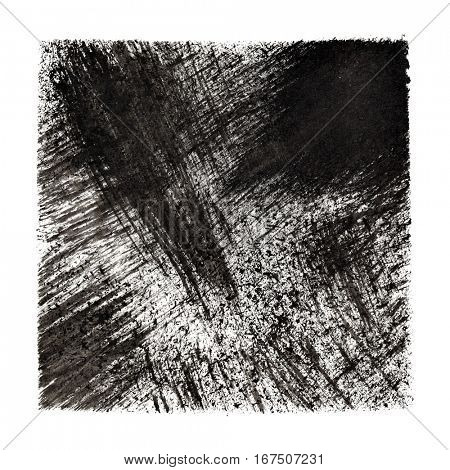 Abstract grunge background with oblique strokes -- raster illustration