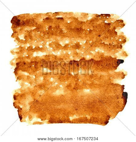 Stain of coffee isolated over the background