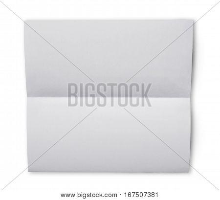 White Folded Blank Sheet Of Paper For Correspondence