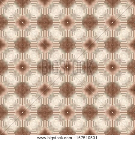 Geometric linear vector pattern in shades brown.