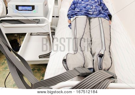 air compression therapy system in action in hospital