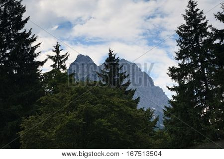 Beautiful countryside around the town of Garmisch