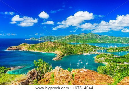 Shirley Heights, Antigua and Barbuda view.
