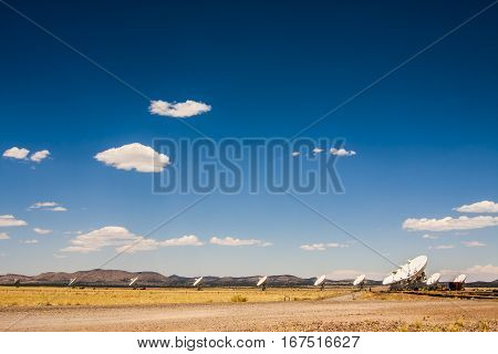 The Very Large Array (VLA) is a radio telescope array in the deserts of New Mexico