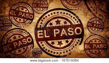 el paso, vintage stamp on paper background