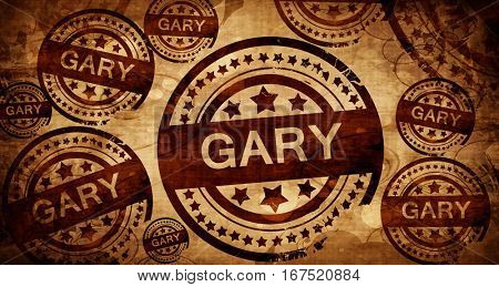 gary, vintage stamp on paper background