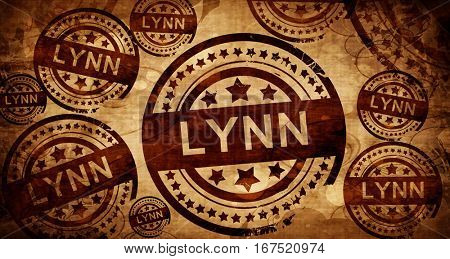 lynn, vintage stamp on paper background
