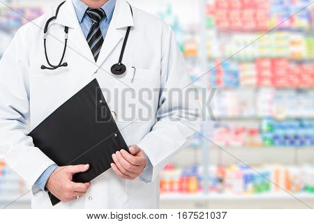 doctor pharmacist medication pills patient practitioner pharmacy tablet sickness clinic drugstore medicine equipment specialist form professional concept - stock image