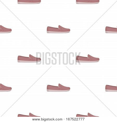 Moccasin icon in cartoon style isolated on white background. Shoes pattern vector illustration.
