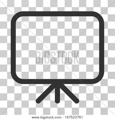 Presentation Screen vector pictogram. Illustration style is flat iconic gray symbol on a transparent background.