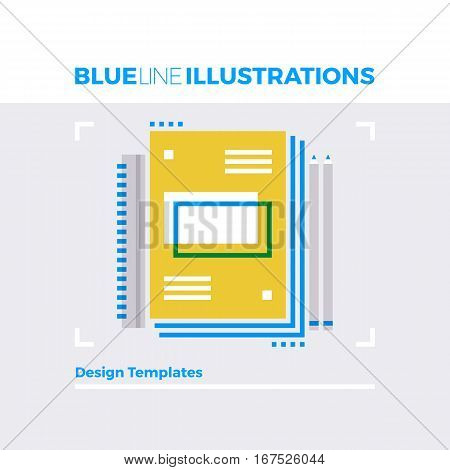Design Templates Blue Line Illustration.