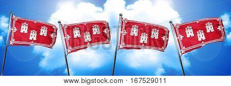 Aberdeen flag, 3D rendering