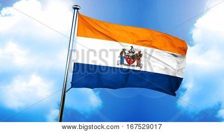 Albany flag, 3D rendering