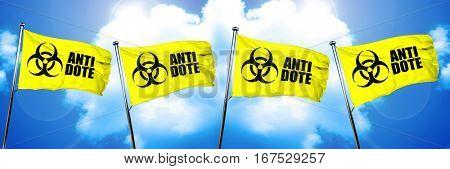 Antidote flag, 3D rendering