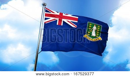 British virgin islands flag, 3D rendering
