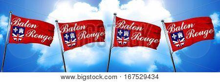 Baton rouge flag, 3D rendering