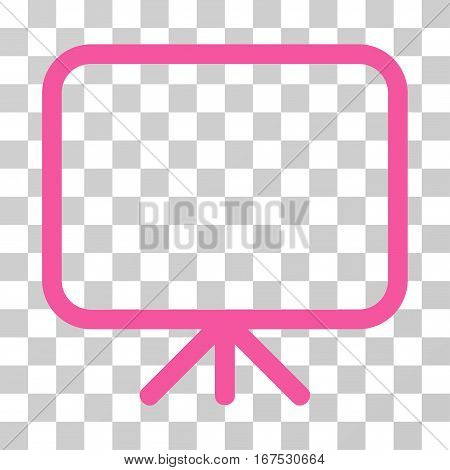 Presentation Screen vector pictograph. Illustration style is flat iconic pink symbol on a transparent background.