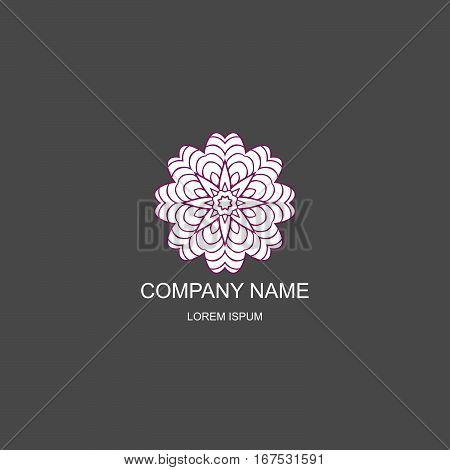 Business logo. Floral Oriental logo. The logo of the company in an Oriental-style henna style. Magenta