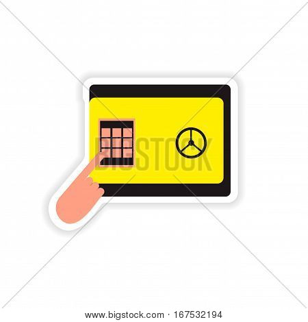 stylish sticker on paper pin code password safe