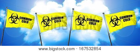 Common Cold flag, 3D rendering