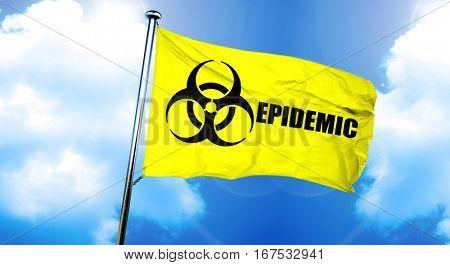 Epidemic flag, 3D rendering