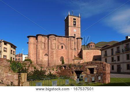 Santa Maria La Real Monastery Najera WaySt. James. La Rioja. Spaindaychurchcity romanesque