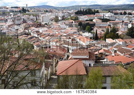 View of the city of Braganca from the Castle Trás-os-Montes Portugal