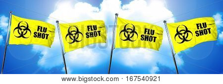 Flu shot flag, 3D rendering