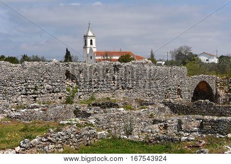 Roman ruins of the ancient city of Conímbriga (Candeixo-a-Novachurch)  Beiras region Portugal