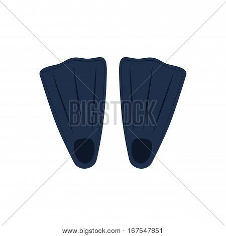Diving fins isolated icon vector illustration graphic design