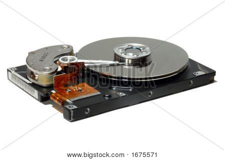 Open Hard Drive Isolated