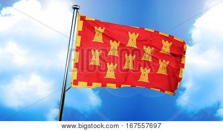 Greater Manchester flag, 3D rendering