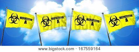 Hepatitis A flag, 3D rendering