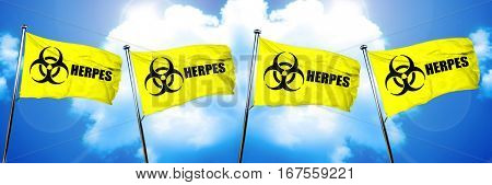 Herpes flag, 3D rendering