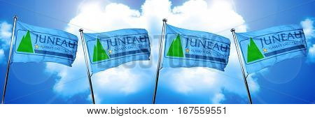 Juneau flag, 3D rendering