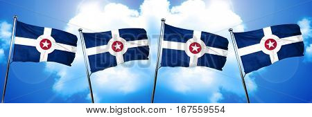 Indianapolis flag, 3D rendering