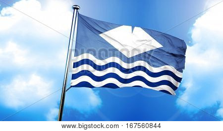 Isle of wight flag, 3D rendering