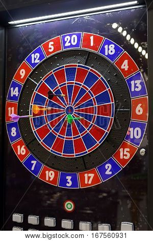 Modern Electronic Dartboard Game With Plastic Darts