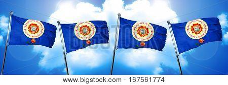 Lancaster flag, 3D rendering
